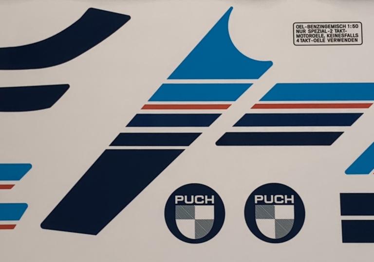 Puch_white_speed_Aufkleber_17tlg